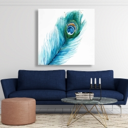Canvas 48 x 48 - Long peacock feather