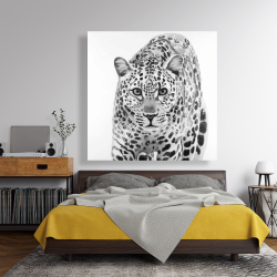 Canvas 48 x 48 - Leopard ready to attack