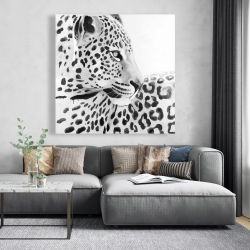 Canvas 48 x 48 - Beautiful leopard