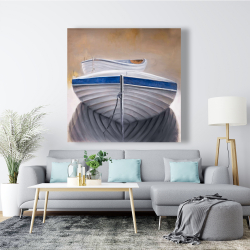 Canvas 48 x 48 - Two canoe boats