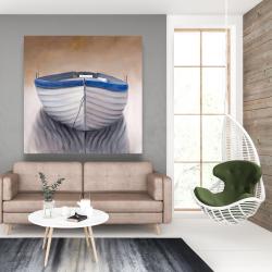 Canvas 48 x 48 - Canoe boat