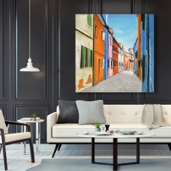 Canvas 48 x 48 - Colorful houses in italy