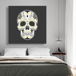 Canvas 48 x 48 - Mexican sugar skull art