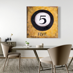 Canvas 48 x 48 - Billiard ball no5