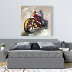 Canvas 48 x 48 - Abstract motorcycle