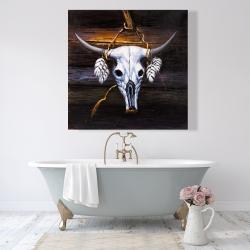 Canvas 48 x 48 - Hanged bull skull