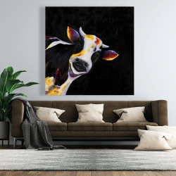 Canvas 48 x 48 - One funny cow