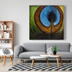 Canvas 48 x 48 - Peacock feather center