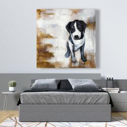 Canvas 48 x 48 - Sitting dog