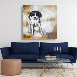 Canvas 48 x 48 - Curious puppy dog