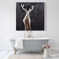 Canvas 48 x 48 - Lonely deer
