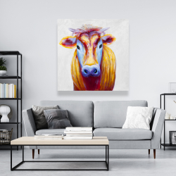 Canvas 48 x 48 - Colorful country cow
