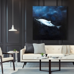 Canvas 48 x 48 - Swimming dolphin