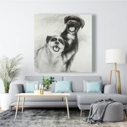 Canvas 48 x 48 - Happy dogs sketch