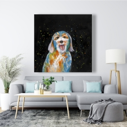 Canvas 48 x 48 - Abstract labradoodle