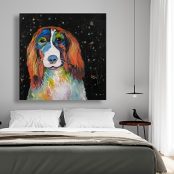 Canvas 48 x 48 - Colorful dog