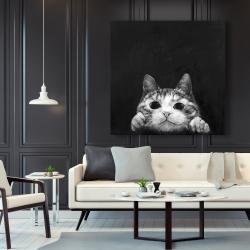 Canvas 48 x 48 - Curious cat