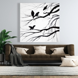Canvas 48 x 48 - Silhouette of birds