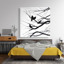 Canvas 48 x 48 - Birds and branches silhouette