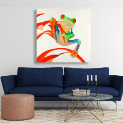 Canvas 48 x 48 - Red-eyed frog