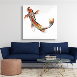 Canvas 48 x 48 - Butterfly koi fish