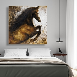 Canvas 48 x 48 - Horse rushing into the dust