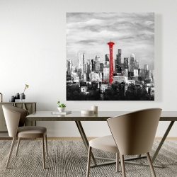 Canvas 48 x 48 - Space needle in red