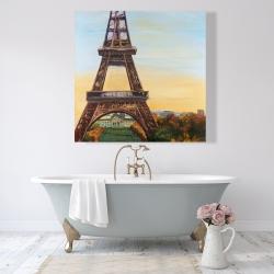 Canvas 48 x 48 - Eiffel tower by dawn
