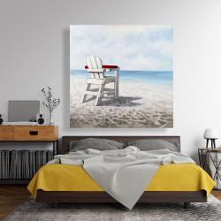 Canvas 48 x 48 - White beach chair