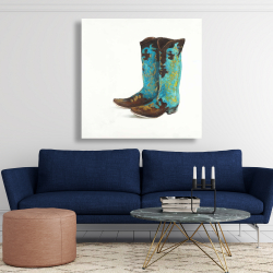 Canvas 48 x 48 - Blue cowboy boots