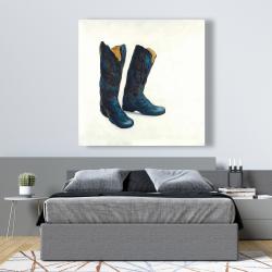 Canvas 48 x 48 - Leather cowboy boots