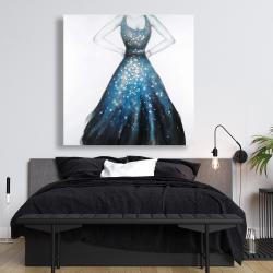Canvas 48 x 48 - Blue princess dress