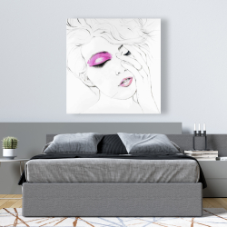 Canvas 48 x 48 - Pink makeup
