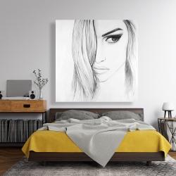 Canvas 48 x 48 - Black & white portrait