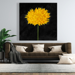 Canvas 48 x 48 - Yellow chrysanthemum