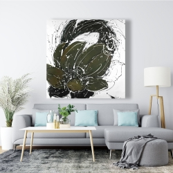 Canvas 48 x 48 - Abstract flower with paint splash