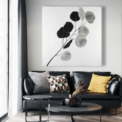 Canvas 48 x 48 - Grayscale branch with round shape leaves