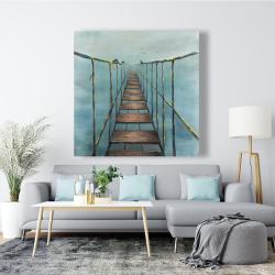 Canvas 48 x 48 - Old and dangerous bridge