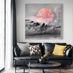 Canvas 48 x 48 - Pink clouds