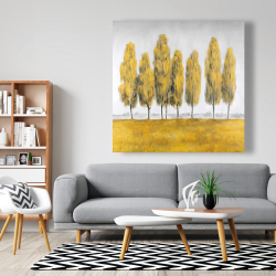 Canvas 48 x 48 - Abstract yellow trees