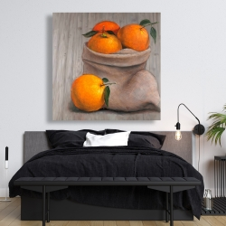 Canvas 48 x 48 - Bag of oranges