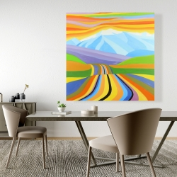Canvas 48 x 48 - Mountain road multicolored