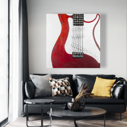 Canvas 48 x 48 - Red electric guitar
