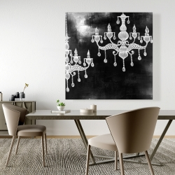 Canvas 48 x 48 - White chandeliers