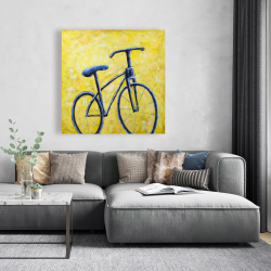 Canvas 48 x 48 - Blue bike abstract