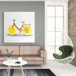 Canvas 48 x 48 - Lemon wheel bike