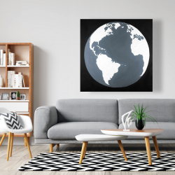Canvas 48 x 48 - Earth satellite view