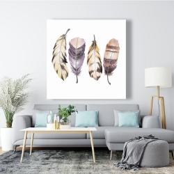 Canvas 48 x 48 - Purple feather set