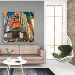 Canvas 48 x 48 - Illuminated new york city street