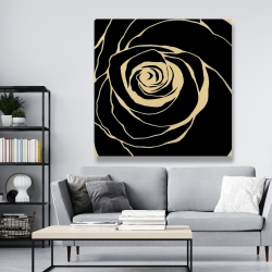 Canvas 48 x 48 - Black rose